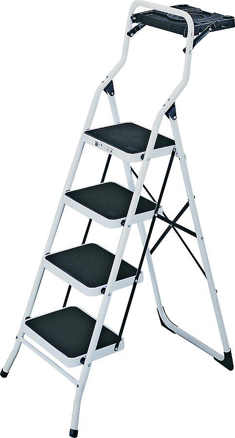 Mintcraft Yc 642ten 3l 4 Step White Steel Step Stool With