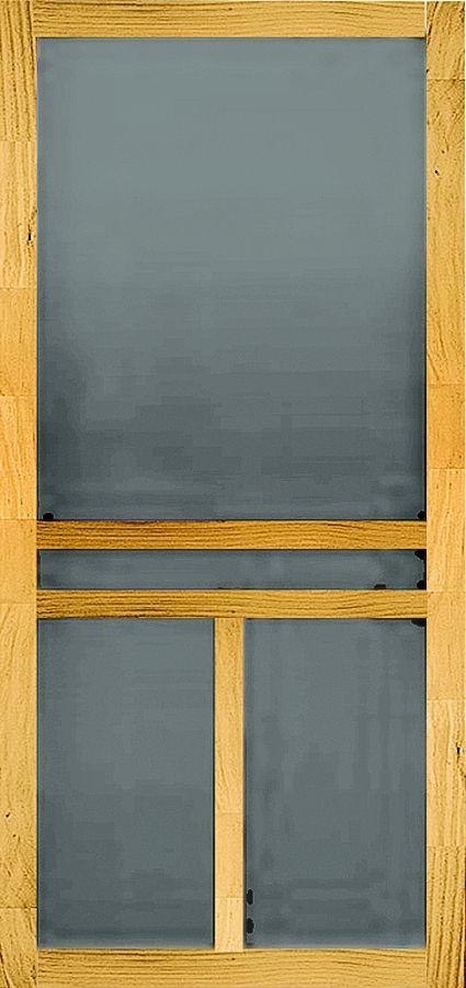 Screen tight wtbar30hyb screen door wood tbar30 at sutherlands for Screen door options