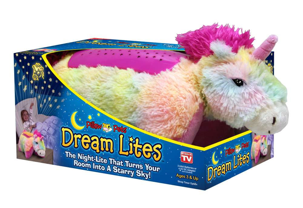 Ontel Dlruni Mc4 Rainbow Unicorn Pillow Pet Dream Lites At Sutherlands