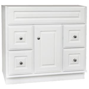 Osage Cabinet Sv3621 D 36x21 Sierra White Vanity At Sutherlands