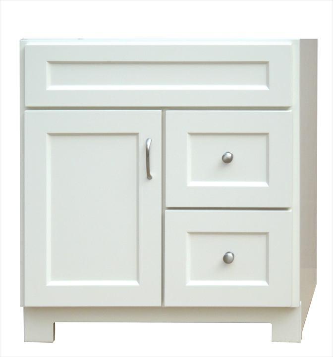Osage Cabinet Wv3018 Dl 30x18 Whistler Vanity 1 Door 2 Drawer At Sutherlands