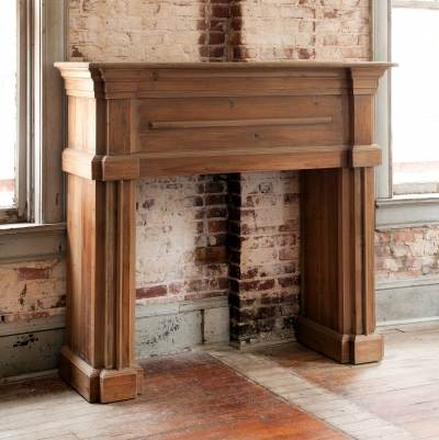 Park Hill Collections NB500 Reclaimed Pine Fireplace Mantle at ...