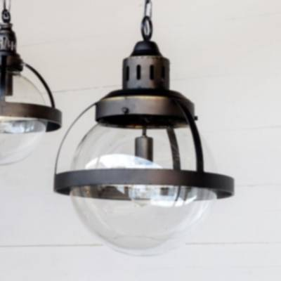 Park Hill Collections Elh81338 Large Bistro Globe Pendant
