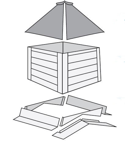Plyco Mw 3c Rsf Cupola 3 Ft Unassembled Roof Side Flashing