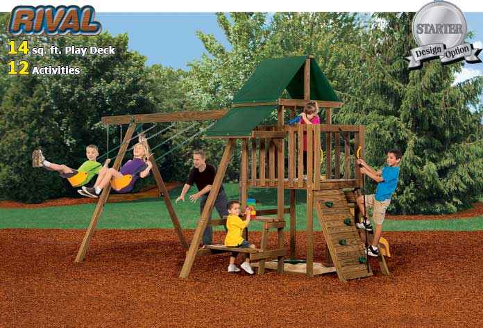 Playstar ps 7471 rival ready to assemble playset at for Sutherlands deck kits