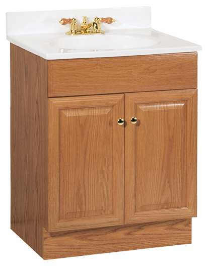 Continental Cabinets C14024a Richmond 24 In Combo Vanity With Top At Sutherlands
