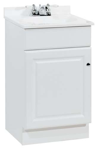 Continental Cabinets C14118a 19 18 X 17 X 35 1 8 Inch White Richmond 1 Door Bathroom Vanity Combo At Sutherlands