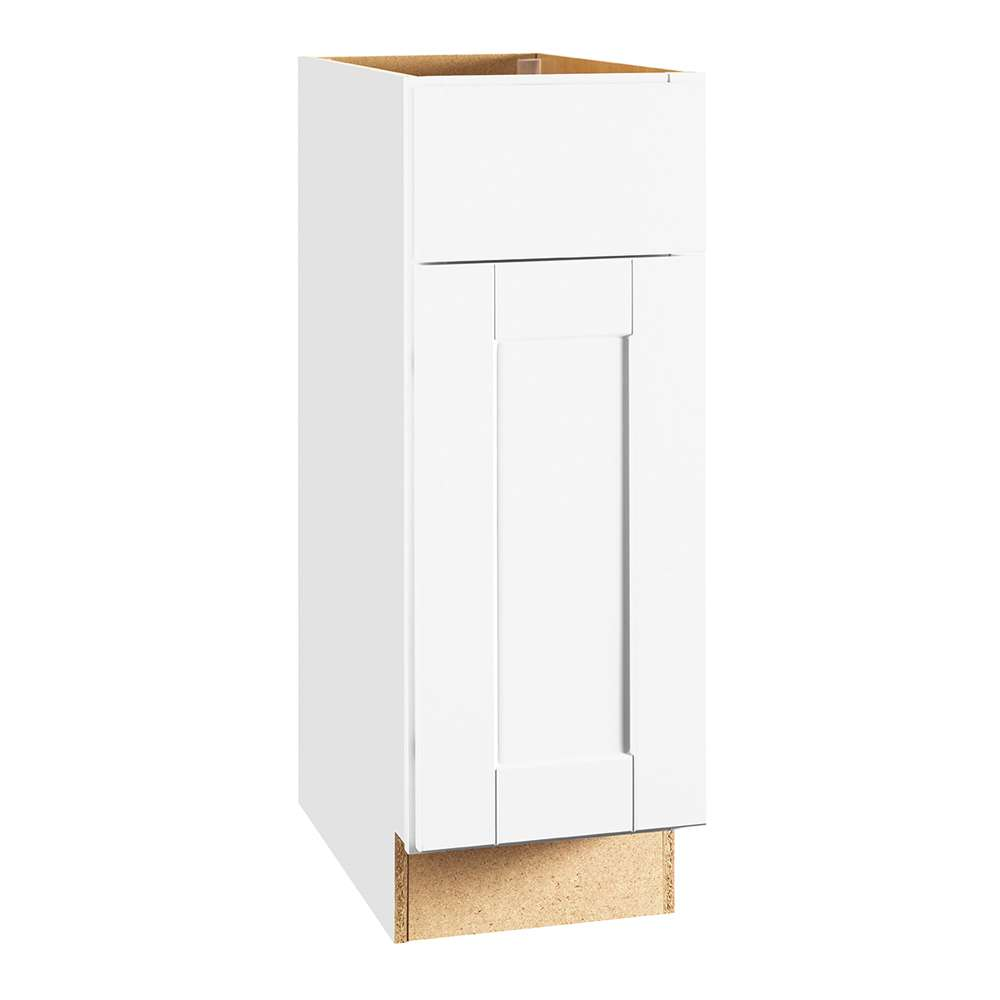 Continental Cabinets CBKB12-SSW White 12-Inch Base Cabinet ...