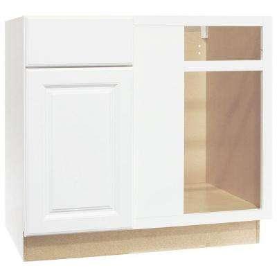 Continental Cabinets CBKBBC45-SW White Blind Base Corner ...