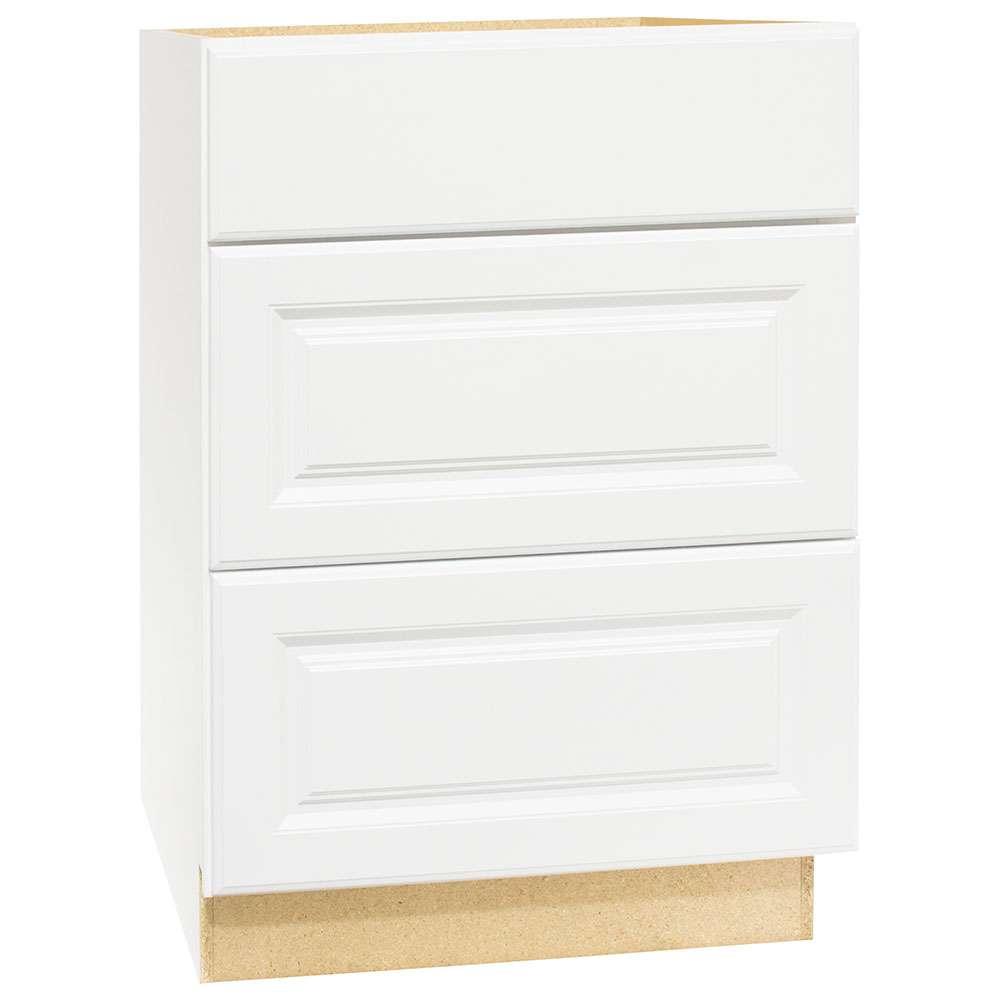 Continental Cabinets CBKDB24-SW White 24-Inch Drawer Base ...