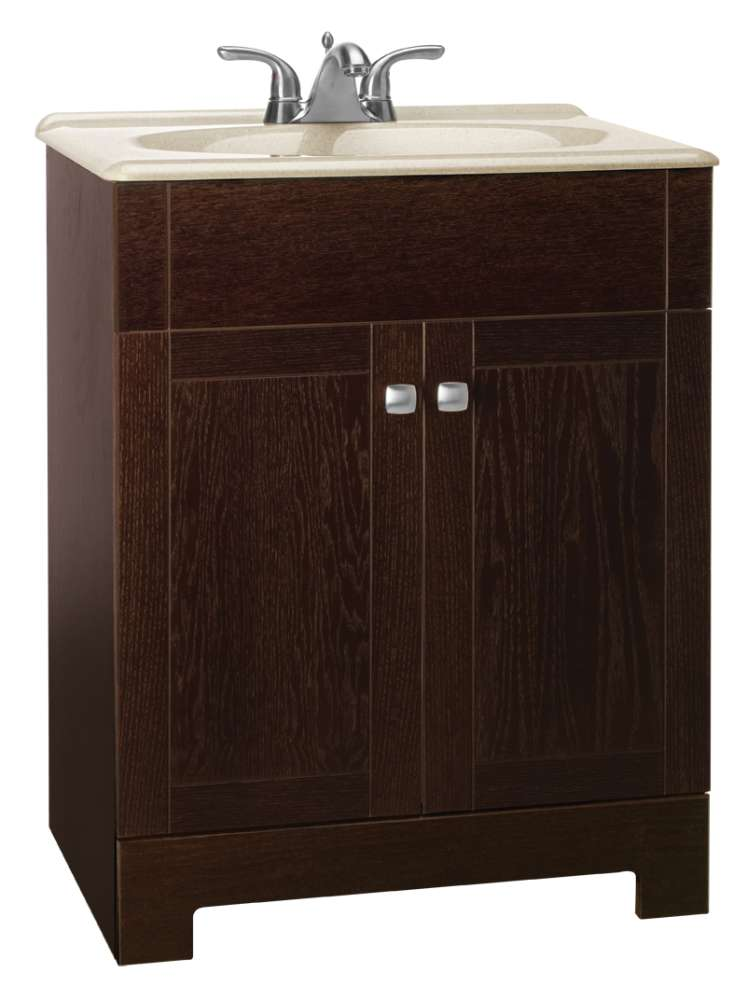 Continental Cabinets Cbppfsjvo24 Sedona 24 In Combo Vanity With Top At Sutherlands