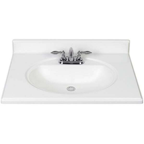 Continental Cabinets Dp225 3cb White 25 Inch Cultured