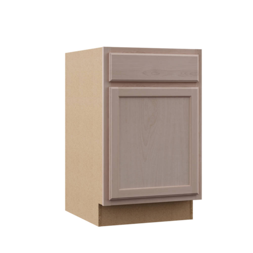 Continental Cabinets KB21-UF Unfinished Beech 21-Inch Base ...