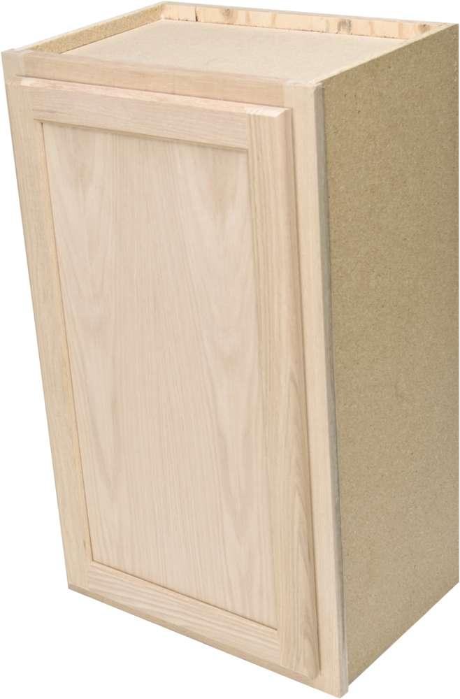 Quality One Woodwork W1530 15x30 Unfinished Oak Wall ...