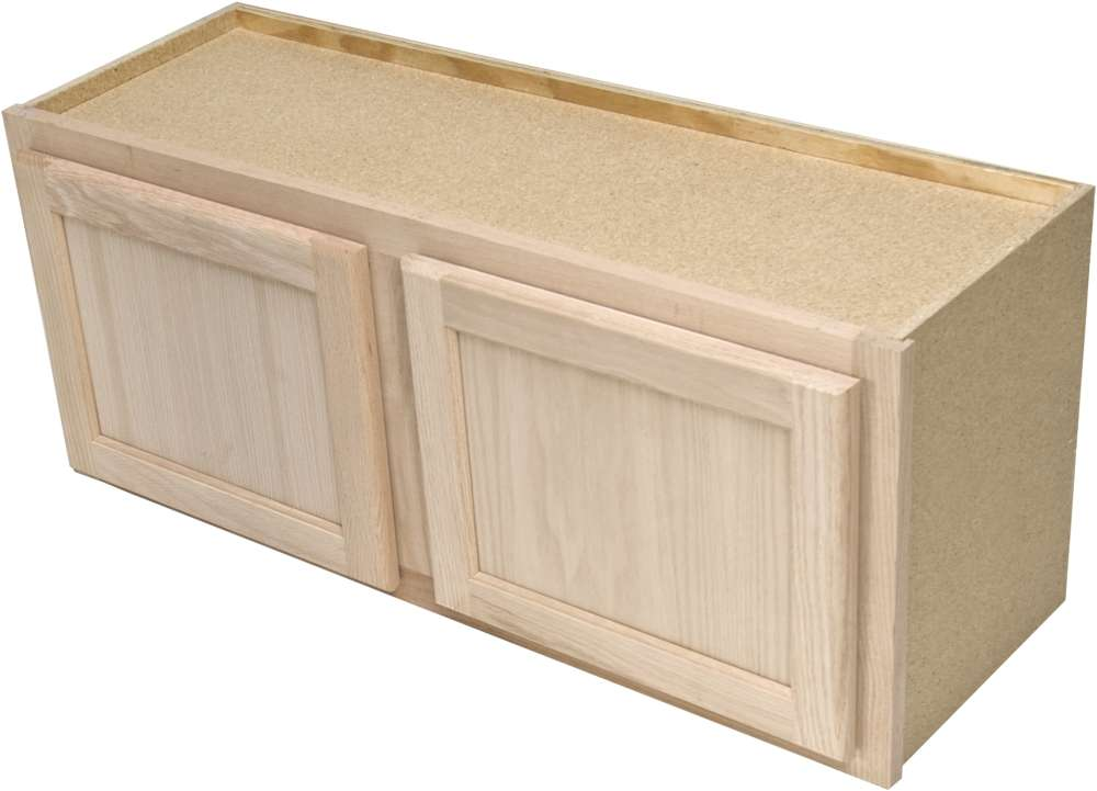 Quality one woodwork w3015 30x15 unfinished oak wall - Woodcraft unfinished kitchen cabinets ...