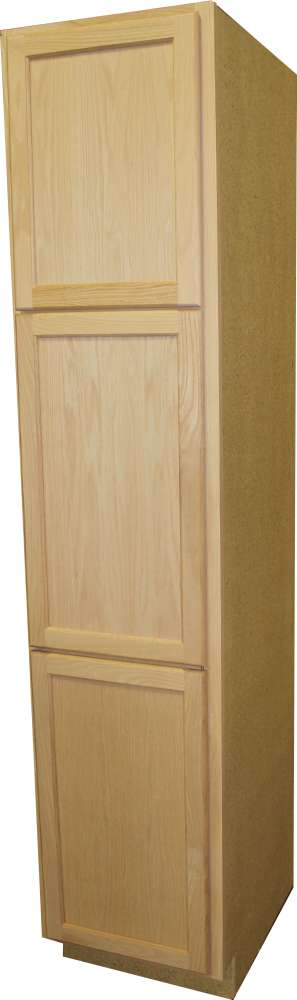 Beau ... Unfinished Oak Utility Cabinet. Quality One Woodwork UC188424