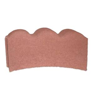 Red 12-Inch Scallop Edge Curved Edging