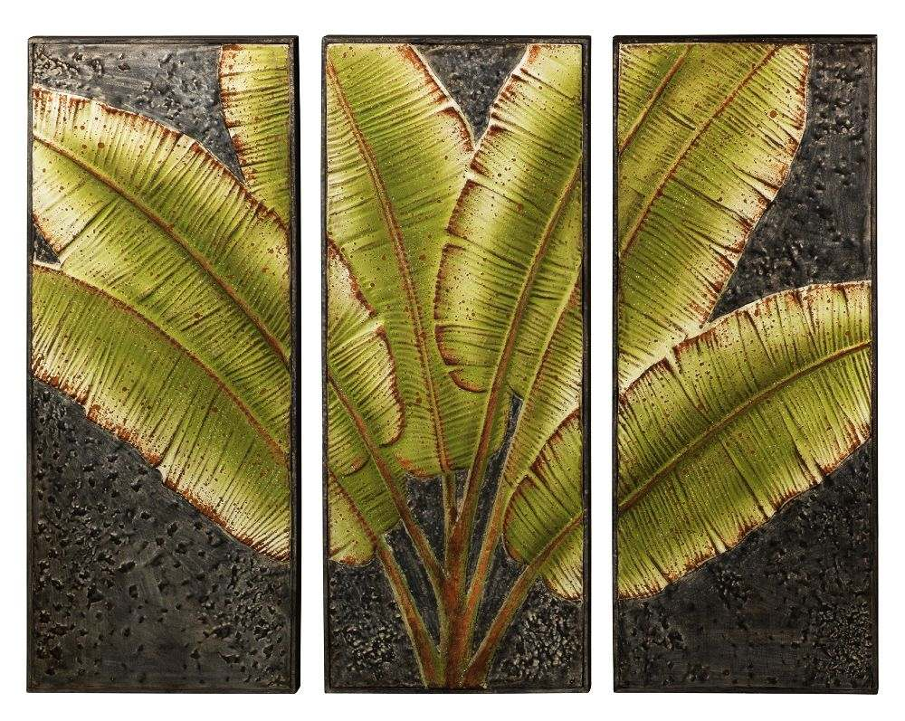 Regal Art & Gift 11771 Green Leaves Triptych Wall Decor at Sutherlands