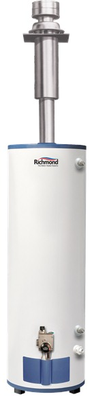 Richmond mvr40dv 40 gal mobile home direct vent natural lp for Natural gas heating options