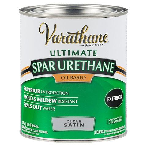 Rust Oleum 9341 Varathane Exterior Ultimate Spar Urethane Clear Satin Finish Quart At Sutherlands