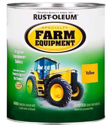 rust oleum 7449502 farm equipment paint caterpillar yellow. Black Bedroom Furniture Sets. Home Design Ideas