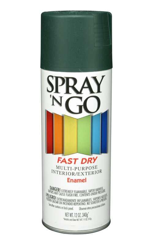 Spray N Go 51108830 Interior Exterior Enamel Spray Paint Hunter Green Gloss Finish At Sutherlands
