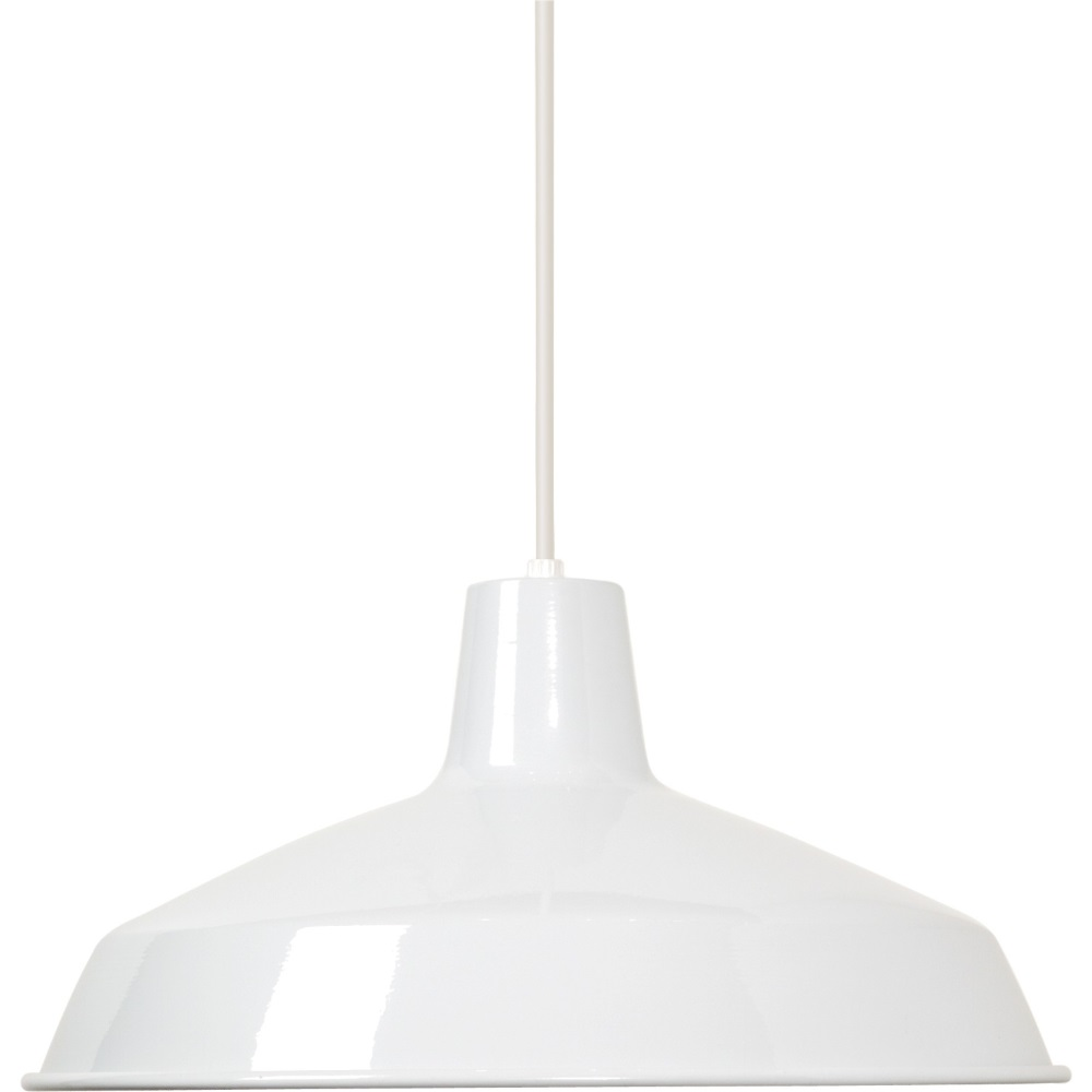Satco Products 76/283 1-Light 16-Inch White Pendant Light