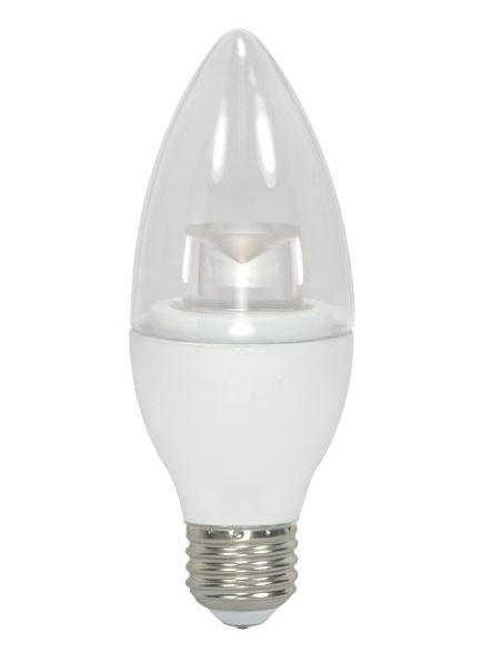 Satco Nuvo Lighting S8982 5w Candle LED 3000k Med Base At Sutherlands