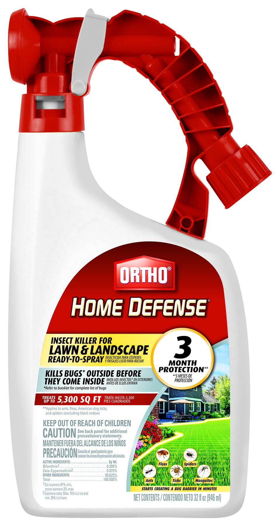 Ortho 0173810 32 Fl Oz Home Defense Insect Killer For Lawn And