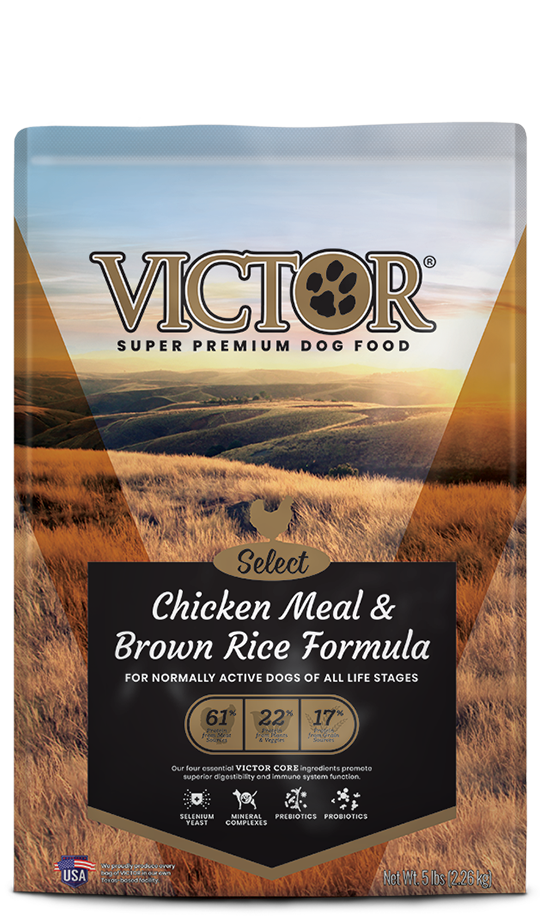 Victor 2428 40 Pound Chicken Meal Amp Brown Rice Dog Food At