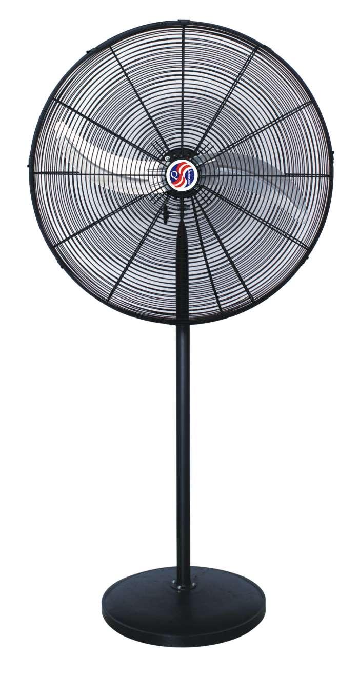 30 In Chrome Commercial Pedestal Fan 2 1 AMPs 1/3 Hp