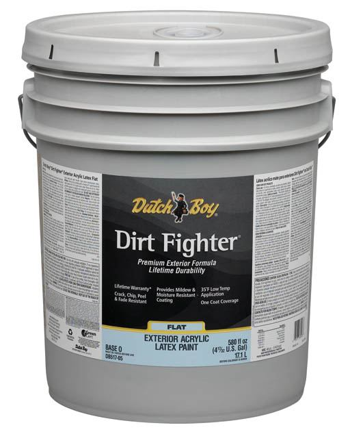 Dutch Boy 1 Db51709 20 Dirt Fighter Exterior Acrylic Latex Paint Flat Neutral Base T 5 Gal At