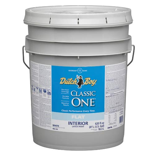 White Latex Paint : Dutch boy  classic one interior latex paint