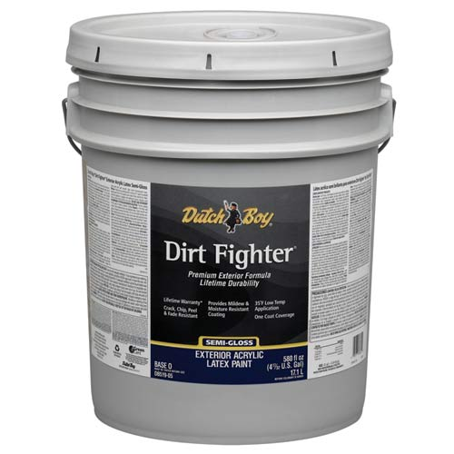 Dutch Boy 1 Db51903 Dirt Fighter Exterior Latex Paint Semi Gloss Base 5 Gallon At Sutherlands