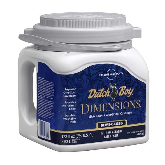 Interior Paint Coverage Per Gallon: Dutch Boy 1.DB67303 Dimensions Interior Acrylic Paint Semi