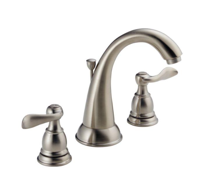 Shop Delta Windemere Brushed Nickel 2 Handle 4 In: Delta Faucet 35996LFBN-ECO Windemere Brushed Nickel Two