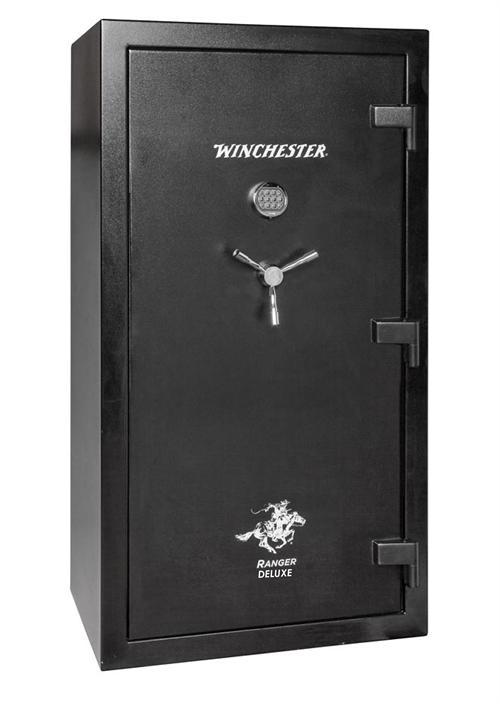 Black Gun Safe In Living Room Decor: Winchester Safes R-7240-45-7-E 51-Gun Black Fire-Rated