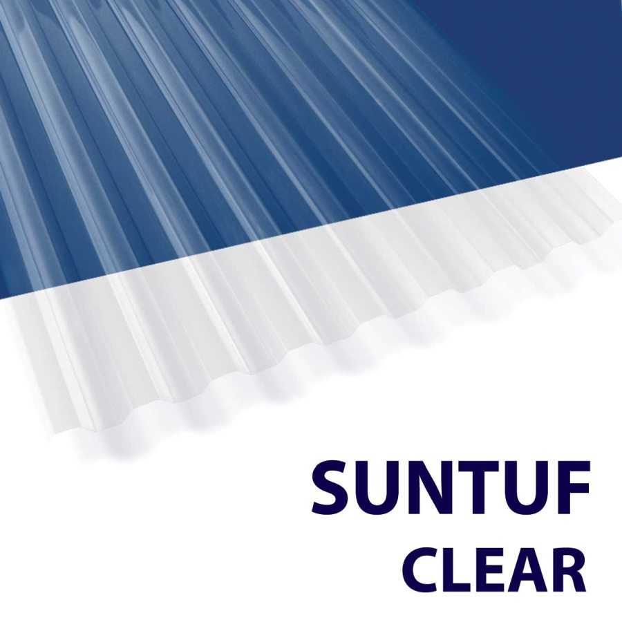 Palram Americas 101699 Suntuf Polycarbonate Panel 12 Ft