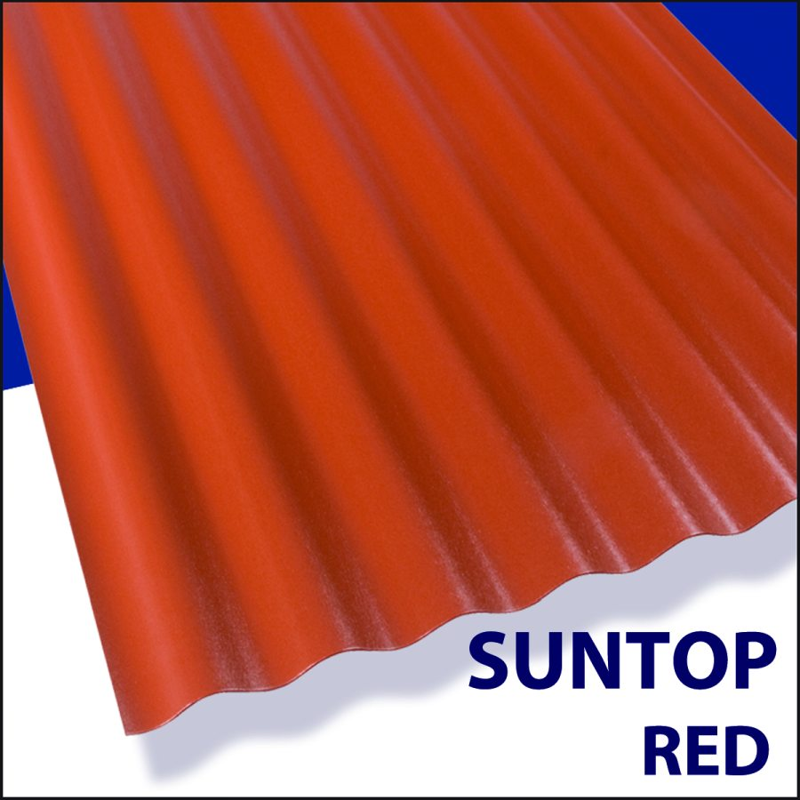 Suntop Foam Polycarbonate Panel 12 ft x26 Sedona Brick