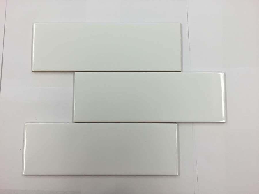 4 Inch X 12 White Ceramic Tile 10 Sq Ft
