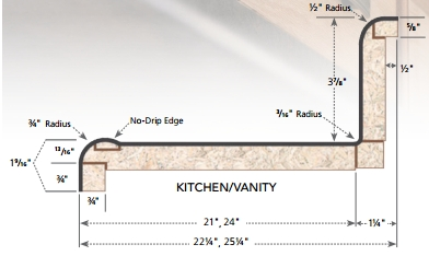 Vt Industries 7732 58 12 12 Foot Blank Caprice Butterrum Granite