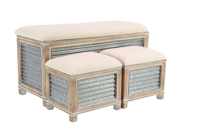 Amazing 38 X 16 Inch Wood And Metal Storage Bench Ibusinesslaw Wood Chair Design Ideas Ibusinesslaworg