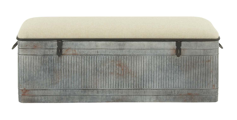 Miraculous 50 X 18 Inch Metal Fabric Storage Bench Ibusinesslaw Wood Chair Design Ideas Ibusinesslaworg