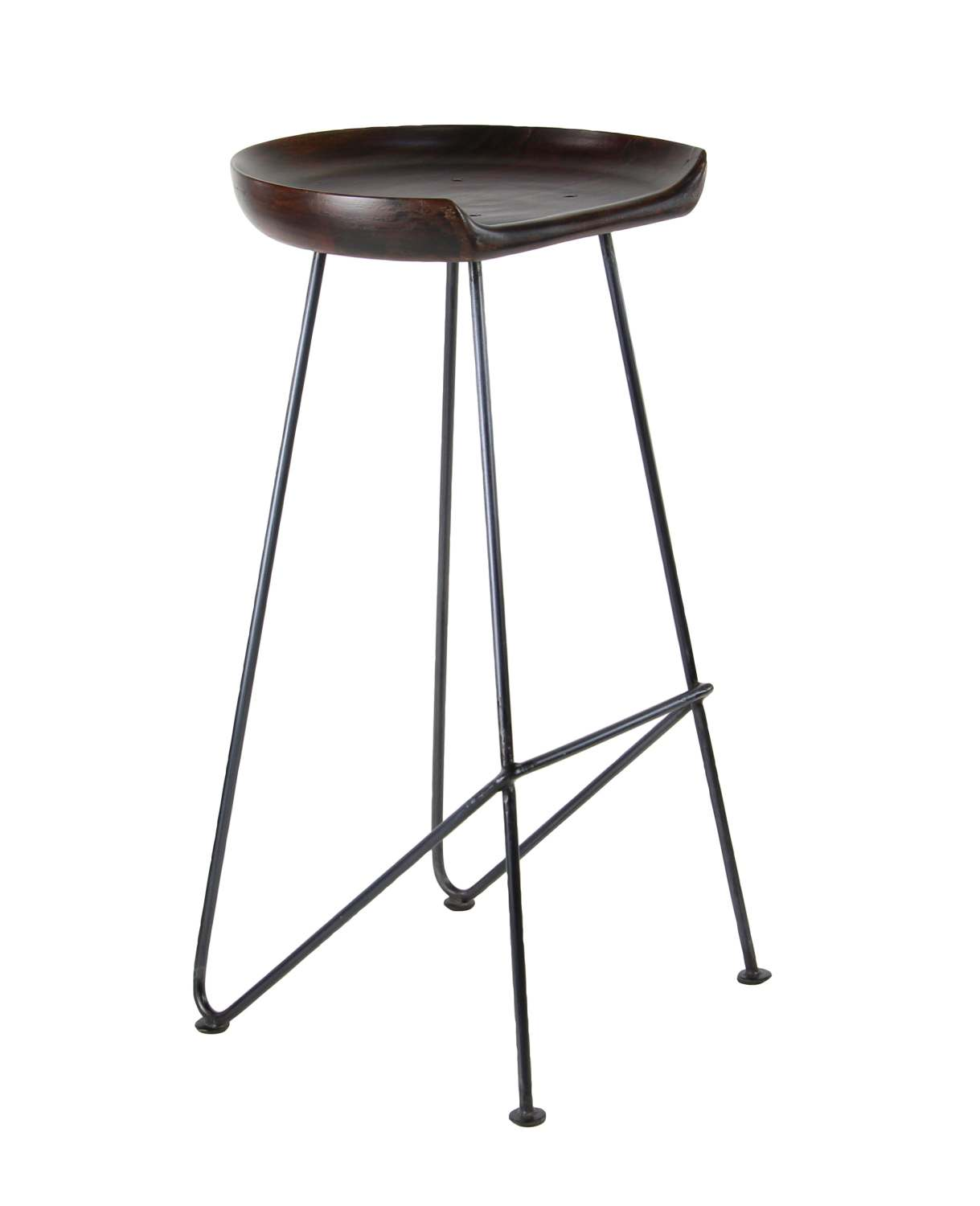 Pleasing 32 X 17 Inch Wood And Metal Bar Stool Uwap Interior Chair Design Uwaporg