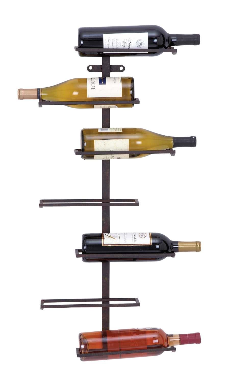 Uma Enterprises 66028 31 X 13 Inch Metal Wall Wine Rack At Sutherlands