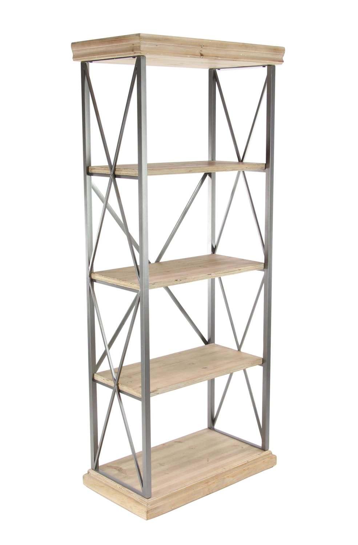Uma Enterprises 77596 30 X 72 Inch Wood And Metal Shelf At