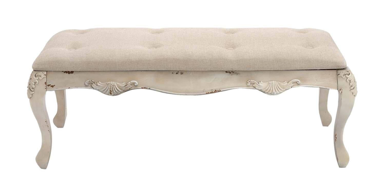 Astonishing 48 X 19 Inch Wood Fabric Bench Inzonedesignstudio Interior Chair Design Inzonedesignstudiocom