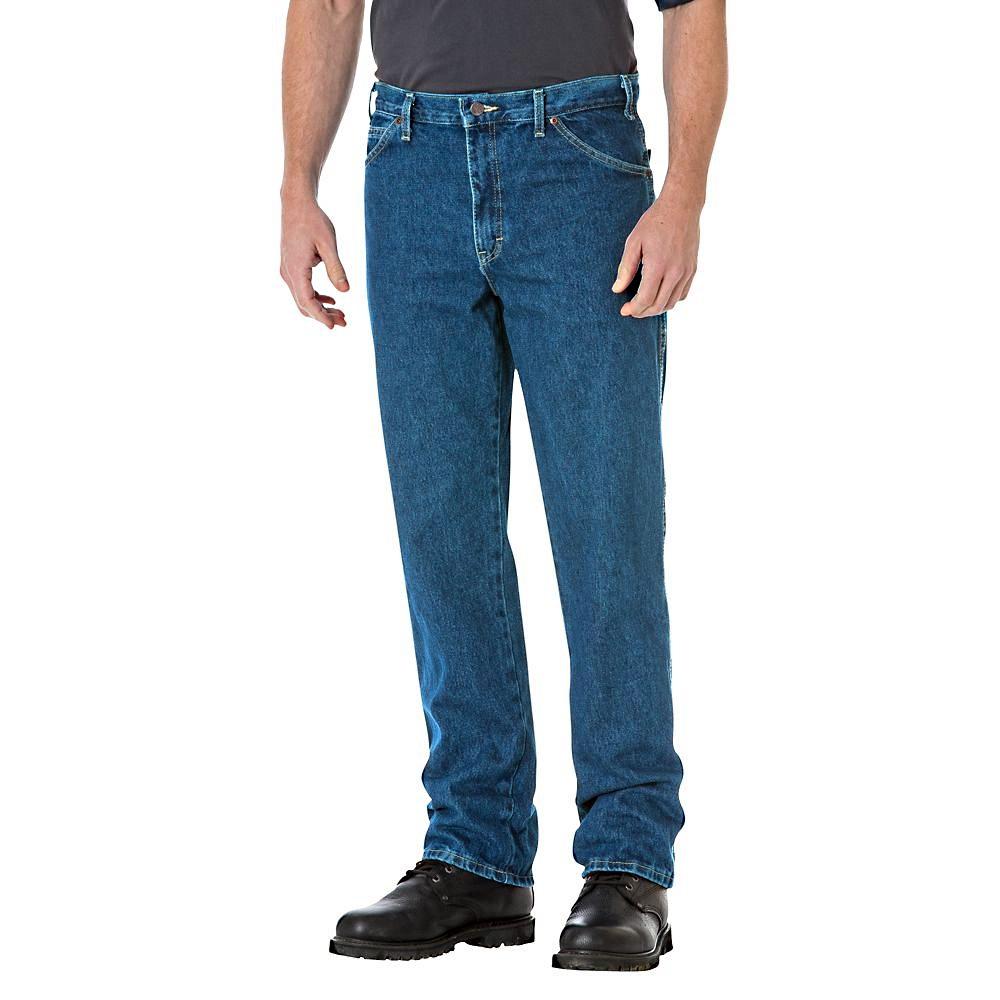 dickies 17 293snb regular straight fit 5 pocket denim jean. Black Bedroom Furniture Sets. Home Design Ideas