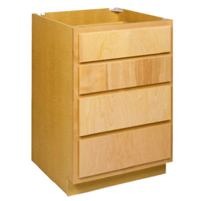 Zee Mfg Db24bh 24 In Unfinished Birch 4 Drawer Base Cabinet At Sutherlands