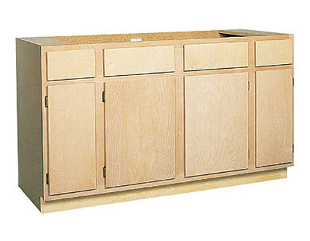 Zee Mfg SB60BH 60 in Unfinished Birch Sink Base Cabinet at ...